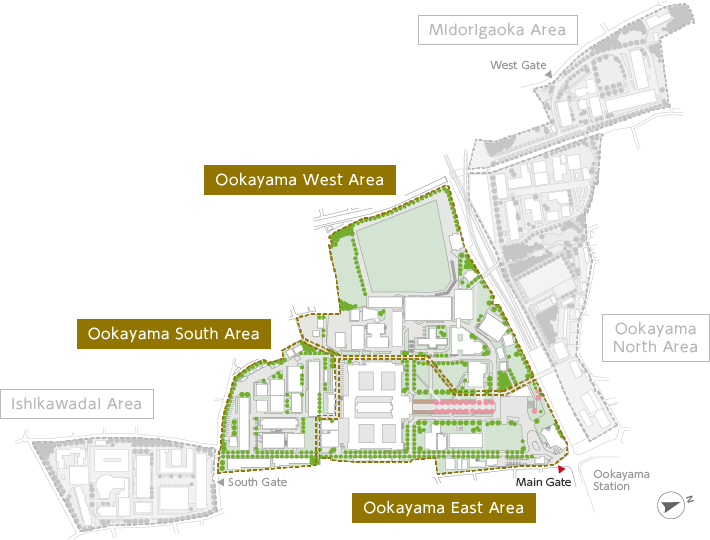 Ookayama Campus Map