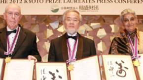 Professor Yoshinori Ohsumi at the 2012 Kyoto Prize Presentation Ceremony