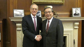 President Mishima made a courtesy visit to MIT