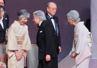 Their Majesties the Emperor and Empress of Japan congratulated laureates Photo courtesy of the Japan Prize Foundation