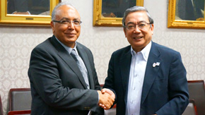 Courtesy Call by President El-Gohary of the Egypt-Japan University of Science and Technology (E-JUST)