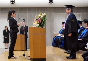Address of the Representative of New Graduate Students