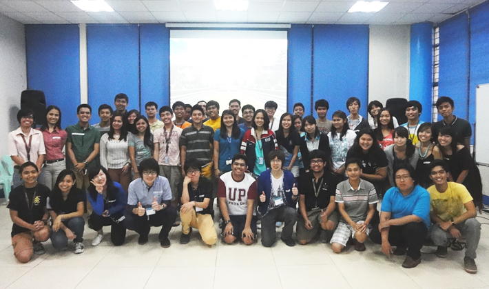 With students of The University of the Philippines Diliman