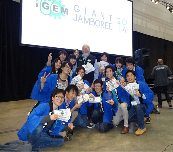 Tokyo Tech team (with iGEM founder Tom Knight, Ph.D.)