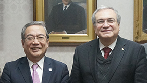 Courtesy Call by Dr. José Manuel Cabrera Sixto, Rector General of the University of Guanajuato, Mexico