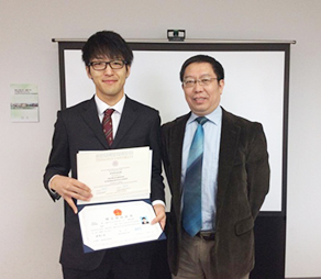 Ryosuke Fuji and his THU academic advisor Professor Wang Zhao
