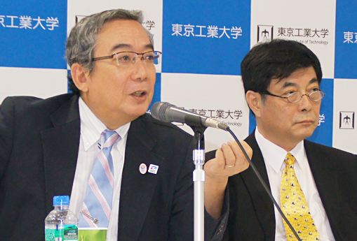 President Yoshinao Mishima and Executive Vice President for Education and International Affairs Toshio Maruyama