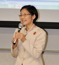 Professor Sadoshima at the lecture