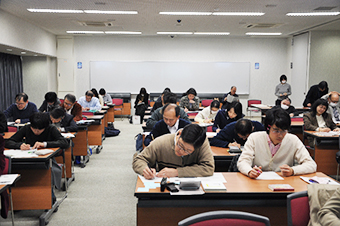 Hands-on tutoring session during the lecture
