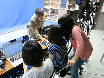TAs and Professor Hirose during the MOOC video production
