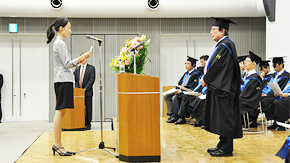 Develop competence to become future pioneers, urges President - Fall Entrance Ceremony 2015