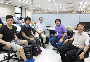 Discussion with host researchers