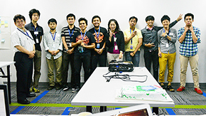 Graduate students' app development training in the Philippines