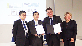 Joint symposium held with RWTH Aachen's Institute for Textile Technology