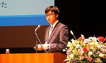 Mr. Kishi speaking at the event