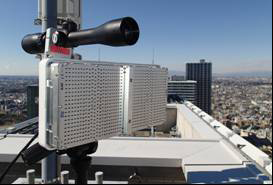 Photographs of the 40 GHz wireless system using DDD