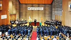 Tokyo Tech High School of Science and Technology graduates honored at Ookayama Campus