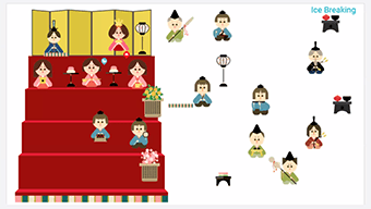 Online game using Japanese doll characters