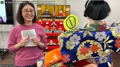 Students connect through online Hinamatsuri doll festival