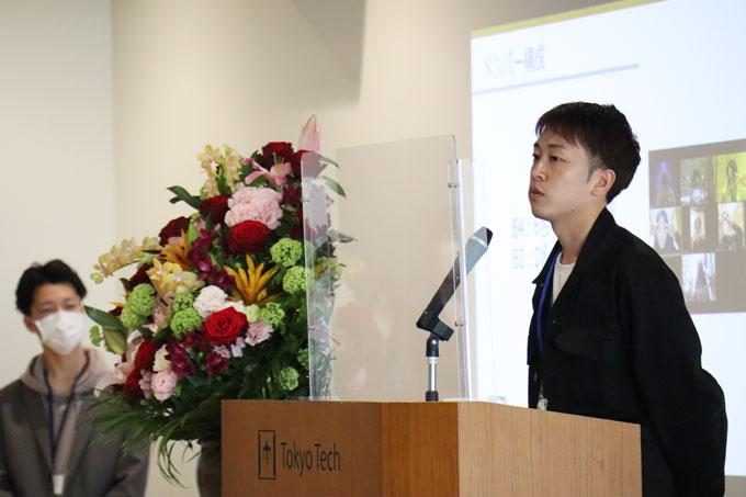 Communications crew leader Daiki Hayase