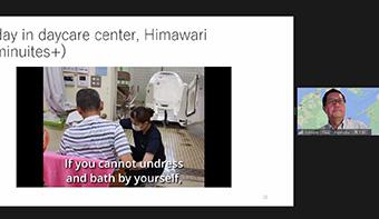 Hamada introducing care center in Japan