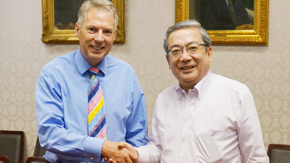 Courtesy Call paid by President Don Nutbeam of the University of Southampton