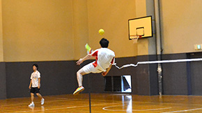 Tokyo Tech International Student Association plays sepak takraw