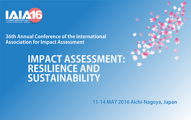 Logo of 36th annual meeting of International Association for Impact Assessment