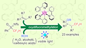 Photocatalytic difluoromethylation of olefins: Simple synthesis of CF2H-containing organic molecules