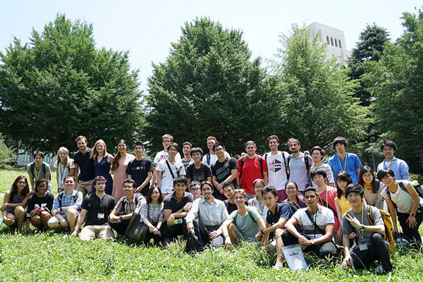 Summer Program participants with Tokyo Tech students