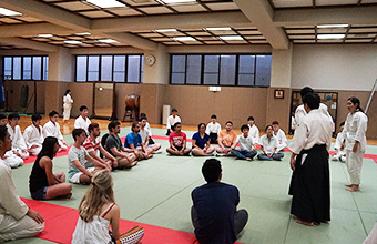 Martial arts (aikido) demonstration and practice with the Tokyo Tech Aikido Club