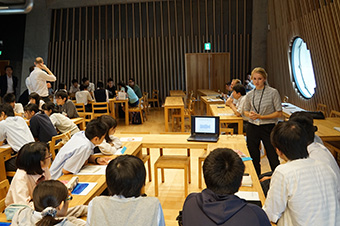 Discussion with Tokyo Tech High School students