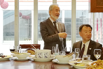 Luncheon hosted by Minister of Education, Culture, Sports, Science and Technology (right)