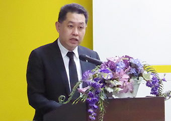 NSTDA President Narong Sirilertworakul giving closing address