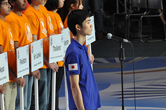 Kosuke Tani at the opening ceremony