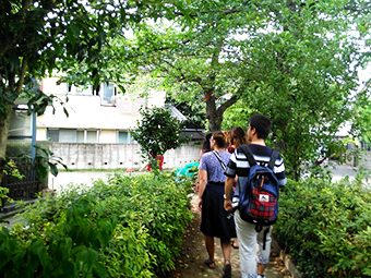 Out to survey local residents living near Ookayama Campus