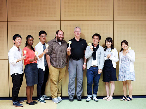 Participating faculty from Georgia Tech with student from Tokyo Tech