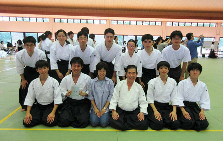 Master Otsuka and members of the Tokyo Tech Aikido Club