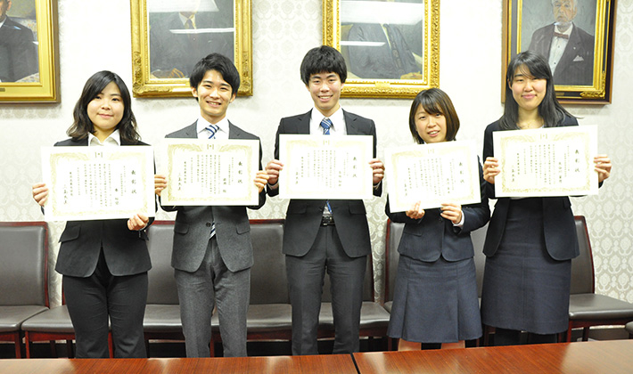 2017 Tokyo Tech Award for Student Leadership recipients