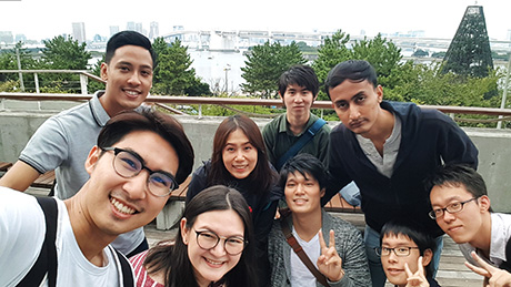 Enjoying the weekend with Tokyo Tech students