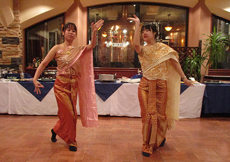 Traditional Thai dance by international students