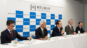 President Masu and executives hold inaugural press conference