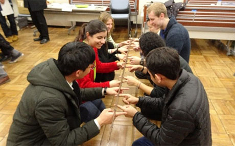 A group activity using bamboo