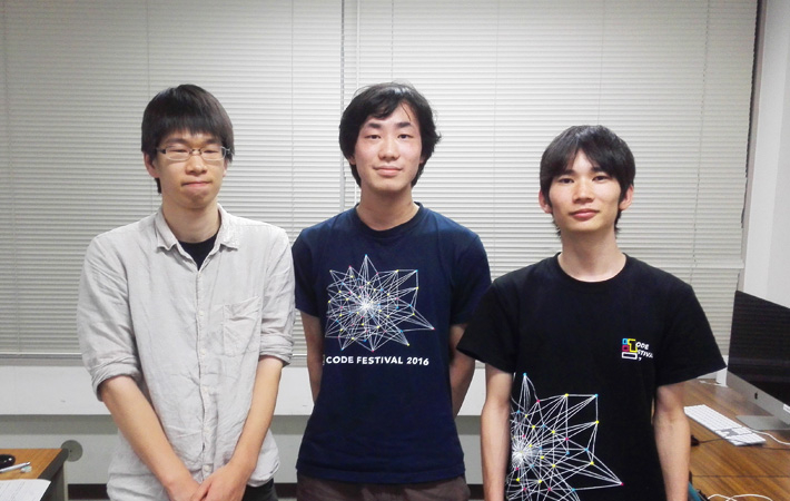 Team new_moon_with_face (from left): Masuda, Miyamoto, Yoshino