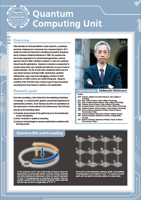 Quantum Computing Unit leaflet