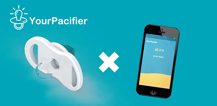 YourPacifier's hydrating soother and mobile app work together to support both infant and parent