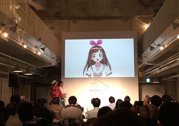 Kizuna AI, a virtual Youtuber and one of the contest judges
