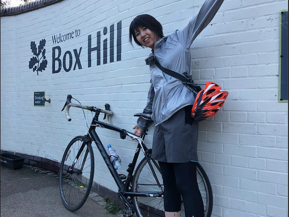 Koishihara cycling with lab members outside London