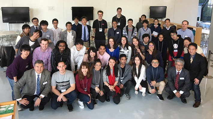 Winter Program participants with host faculty members and Tokyo Tech students