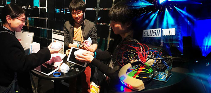 Engineering Design Project creations exhibited at Slush Tokyo 2019